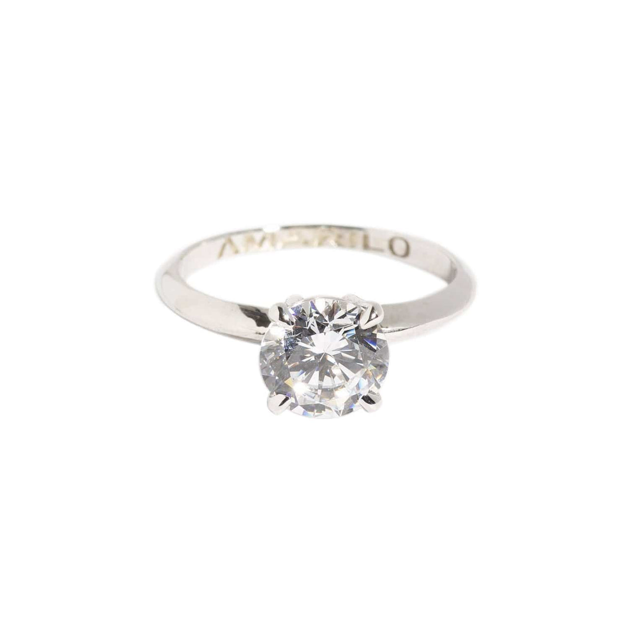 AMARILO Rings Classic Round Solitaire Ring