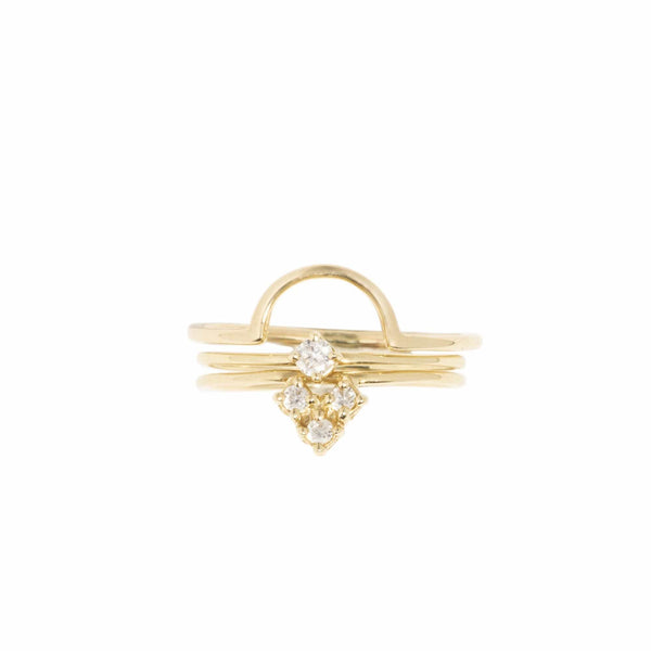 AMARILO Rings Diamond Aieta Ring Set