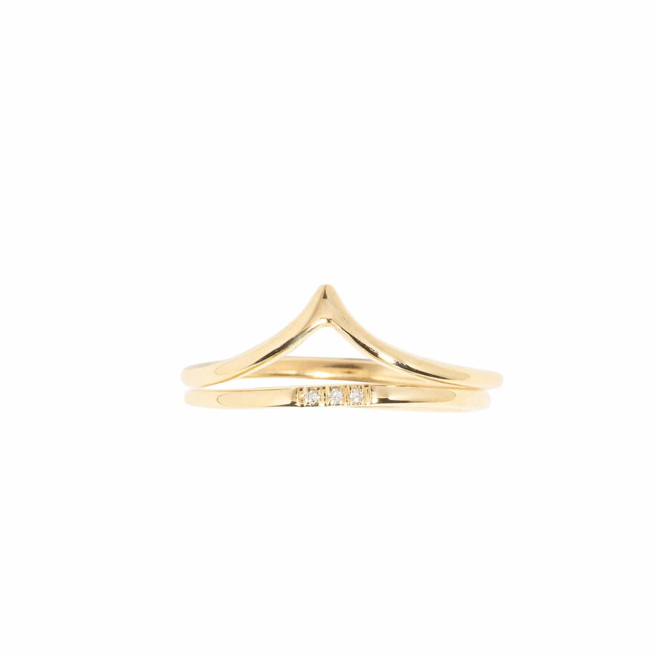 AMARILO Rings Peak Ring Set