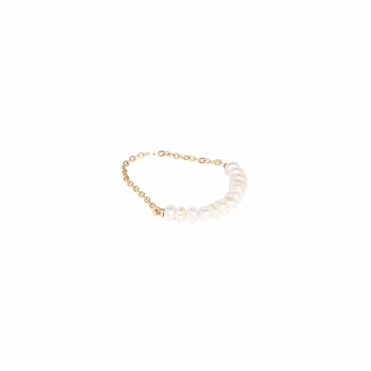 AMARILO Rings Quinn Pearl Chain Ring