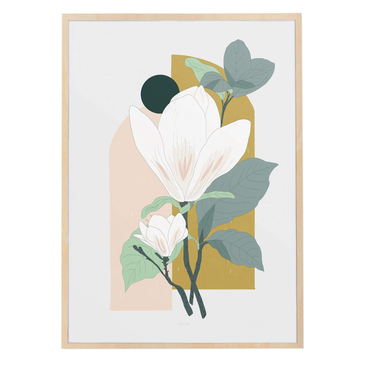Baltic Club Art Prints Arcade (Magnolia) Art Print