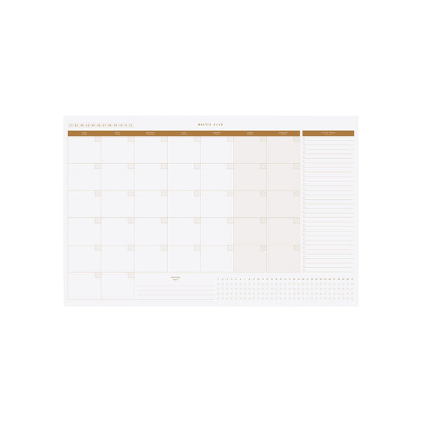 Baltic Club Calendars & Planners Sepia Monthly Planner Desk Pad
