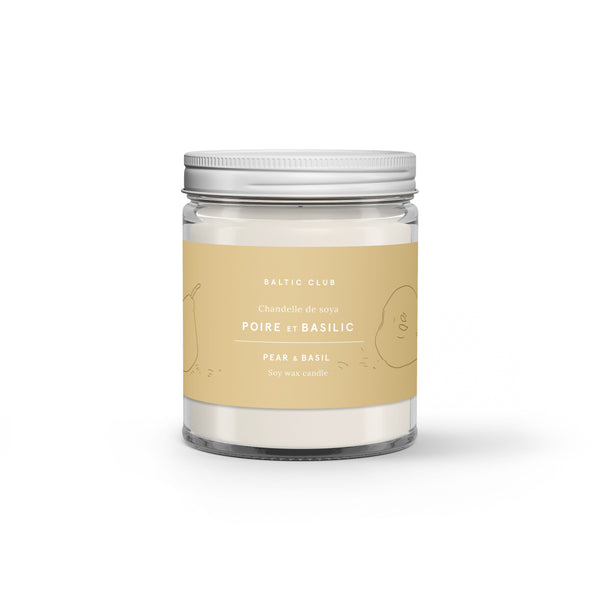 Baltic Club Candles Pear & Basil Soy Candle