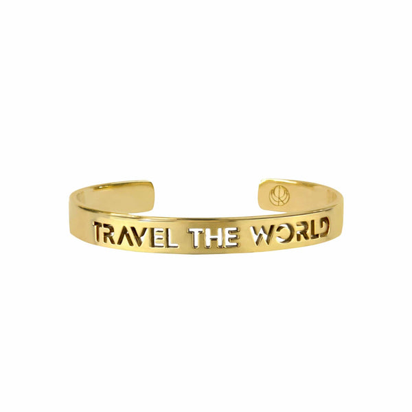 CRISTINA RAMELLA Bracelets Gold Plated / Small Travel the World Bangle Bracelet