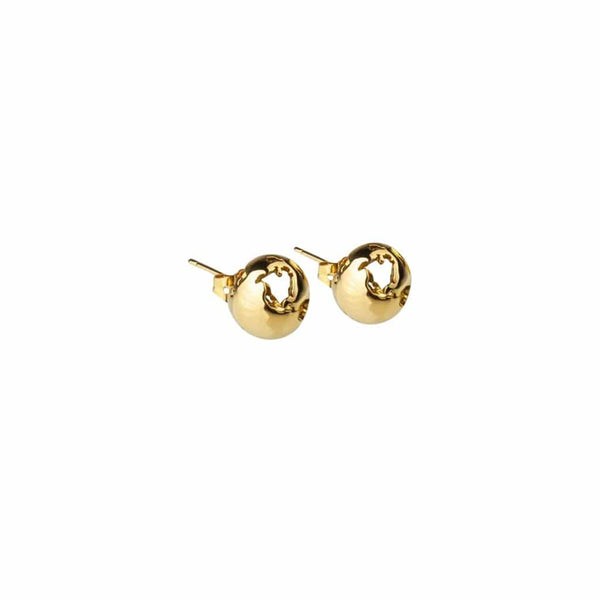 CRISTINA RAMELLA Earrings Gold Plated Small Gold-Plated World Earrings