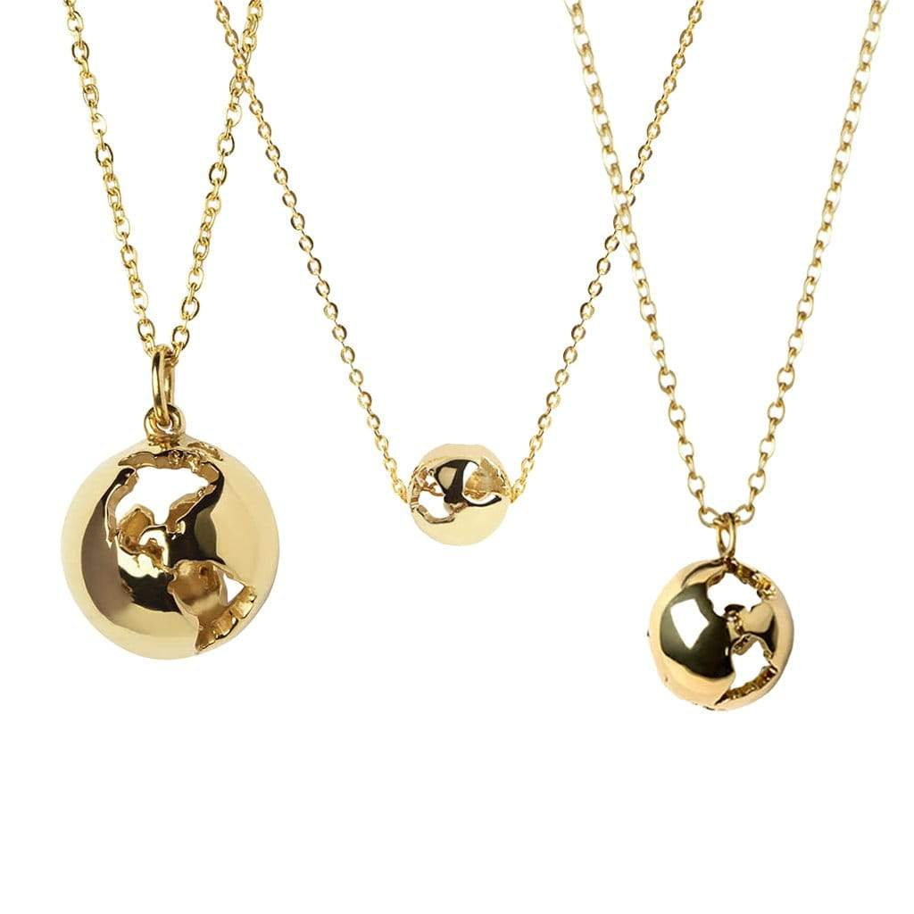 CRISTINA RAMELLA Necklaces Gold Plated Give the Earth Necklace Set