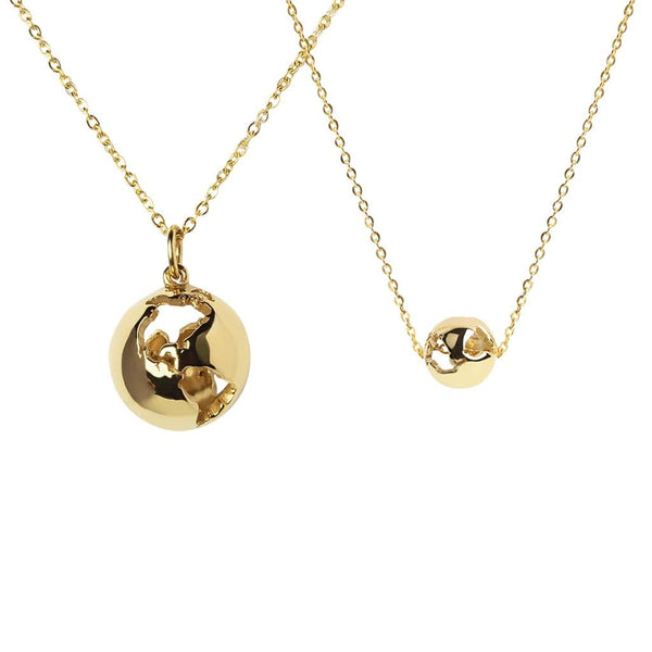 CRISTINA RAMELLA Necklaces Gold Plated Give the World Pendant Necklace Set