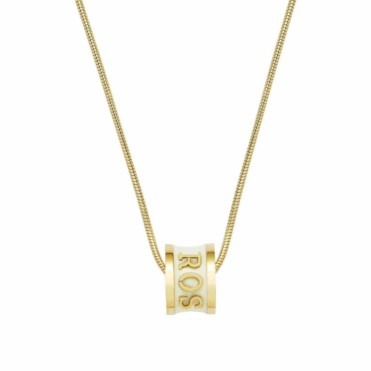 Florence London Necklaces Cream with 18ct Gold Trim Signature Necklace Personalized with Names and Dates