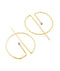 Gabriela Ortiz Earrings gold-filled Contour Open Moon Earrings