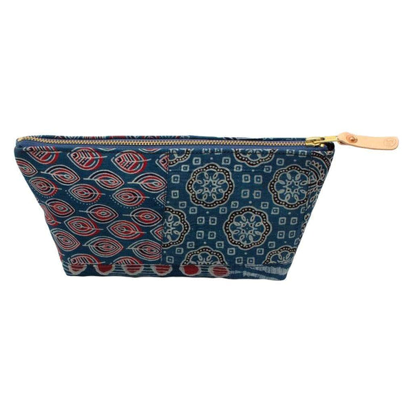 General Knot & Co. Carryalls & Pouches One Size / Multi Bengal Blue Patchwork Travel Clutch