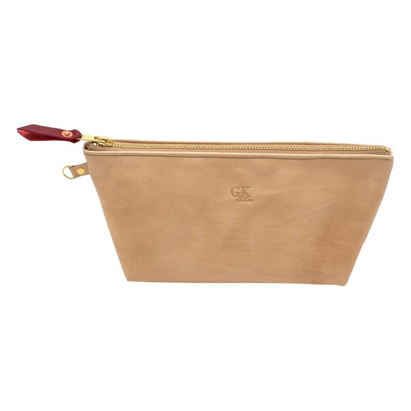 General Knot & Co. Carryalls & Pouches One Size / Natural Blond Leather Zipper Clutch