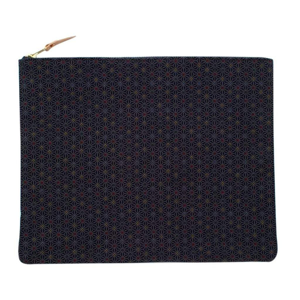 General Knot & Co. Laptop Cases & Sleeves One Size / Navy Large Indigo Stain Glass Laptop Sleeve/Carryall