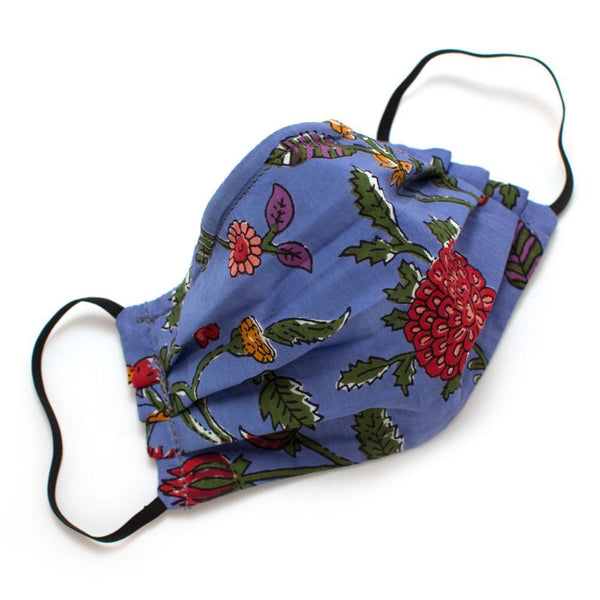 General Knot & Co. Masks One Size / Multi Reusable Mumbai Floral Face Mask- Elastic Loops