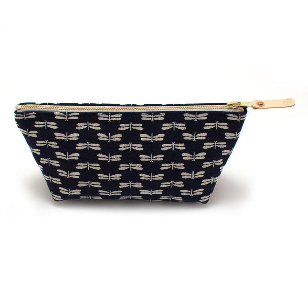 General Knot & Co. Wallets, Pouches & Accessories One Size / Navy/Indigo Japanese Indigo Dragonflies Travel Clutch