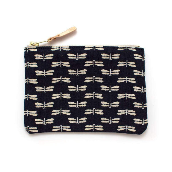General Knot & Co. Wallets, Pouches & Accessories One Size / Navy/Ivory Japanese Indigo Dragonfly Small Carryall