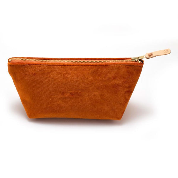 General Knot & Co. Wallets, Pouches & Accessories One Size / Orange Vintage Carrot Velvet Travel Clutch