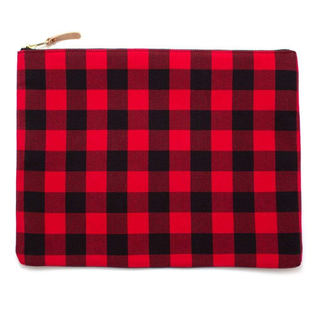 General Knot & Co. Wallets, Pouches & Accessories One Size / Red/Black Buffalo Check Large Laptop Sleeve & Carryall