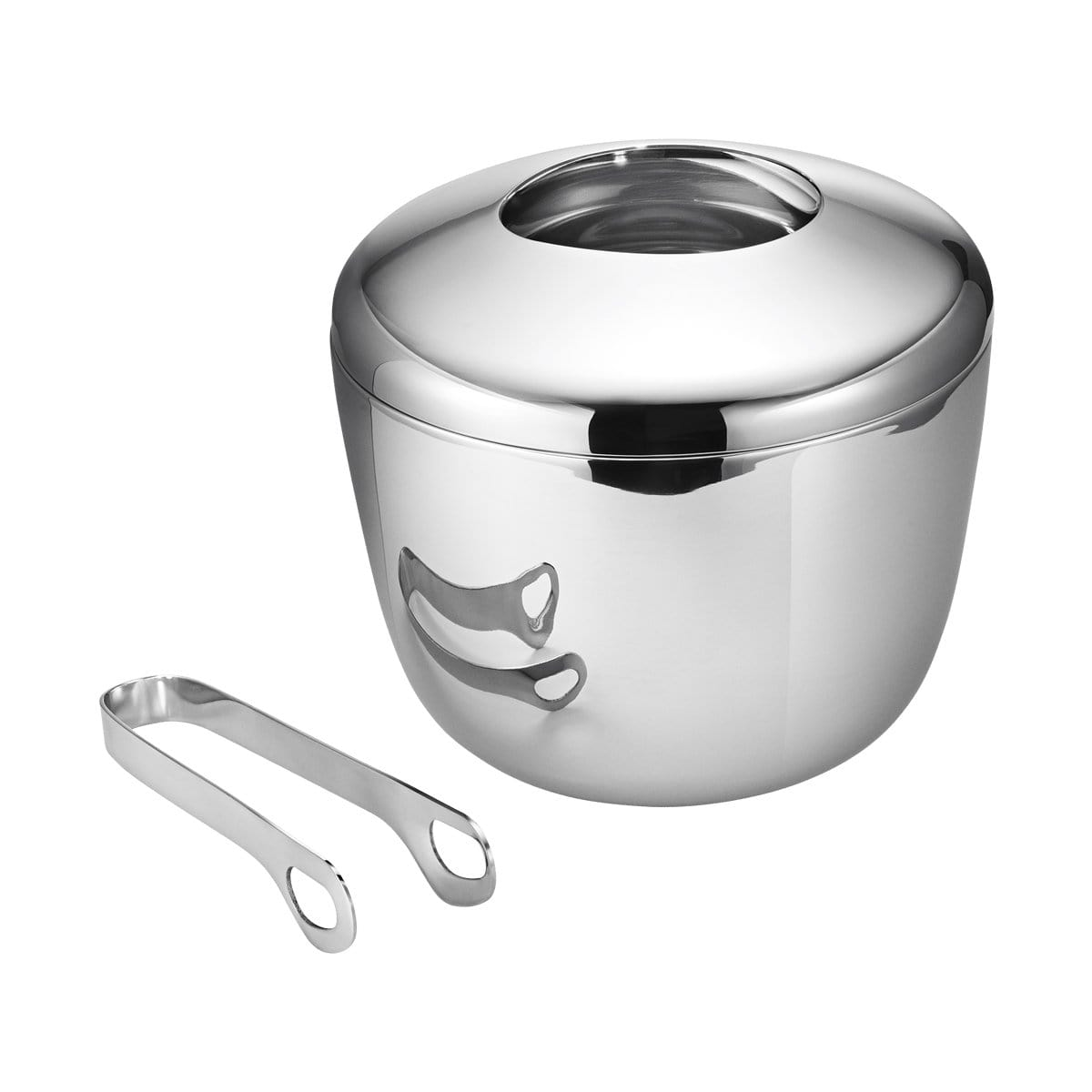 Georg Jensen Bar Accessories Sky Stainless Steel Ice Bucket & Tongs