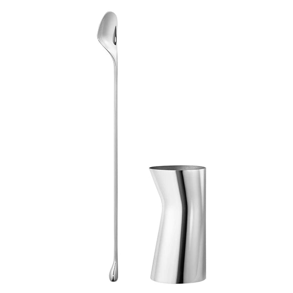 Georg Jensen Bar Accessories Sky Stainless Steel Set - Stirring Spoon & Jigger