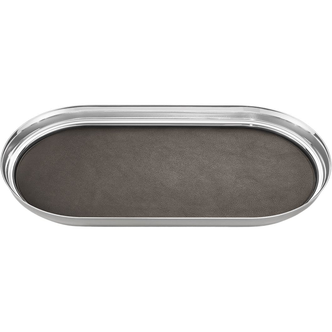 Georg Jensen Servewear Manhattan Stainless Steel & Leather Tray