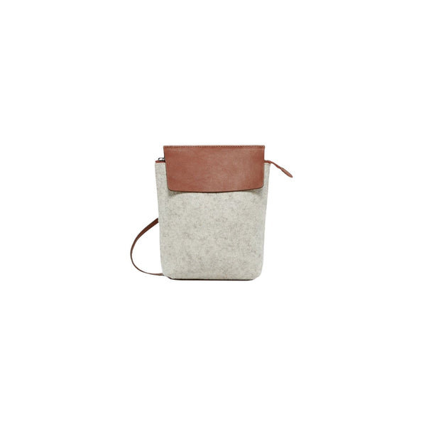 Graf Lantz Crossbody Bags Heather White & Sienna Heather White & Sienna Kita Crossbody