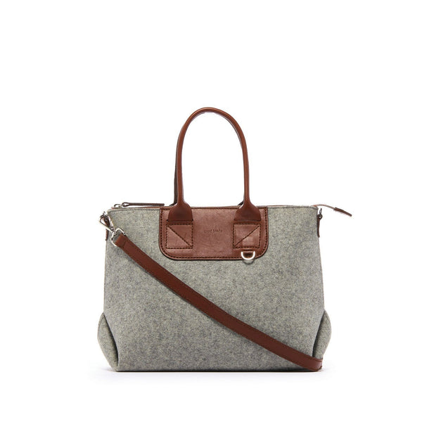 Graf Lantz Shoulder, Crossbody & Belt Bags Granite/Sienna Bedford Granite + Sienna Satchel Felt