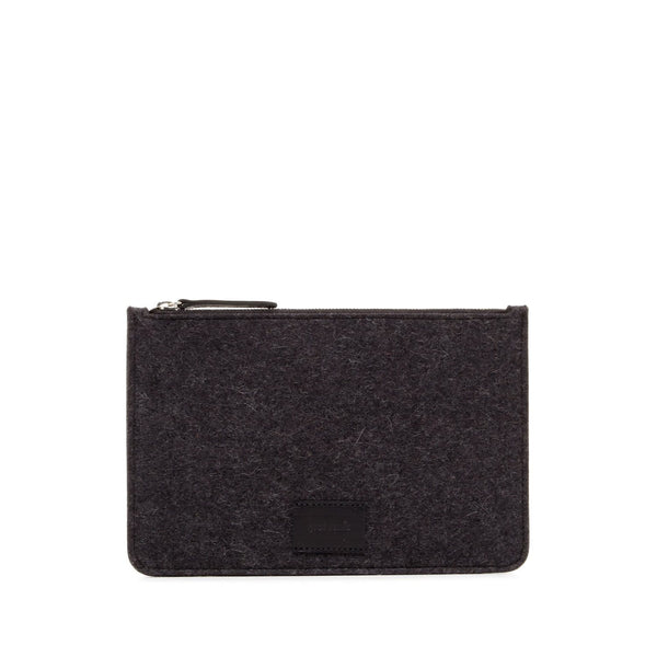 Graf Lantz Wallets, Pouches & Accessories Charcoal Flat Felt Charcoal Pouch