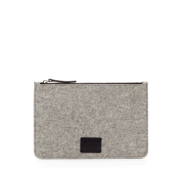 Graf Lantz Wallets, Pouches & Accessories Granite Flat Felt Granite + Black Pouch