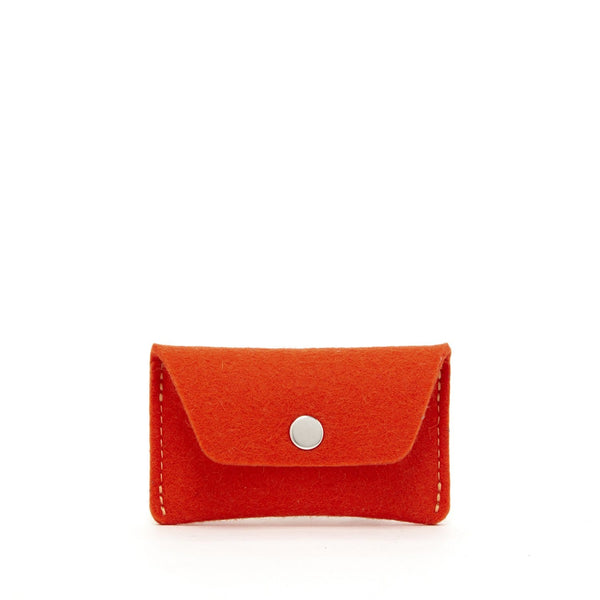 Graf Lantz Wallets, Pouches & Accessories Orange Card Wallet Orange Felt