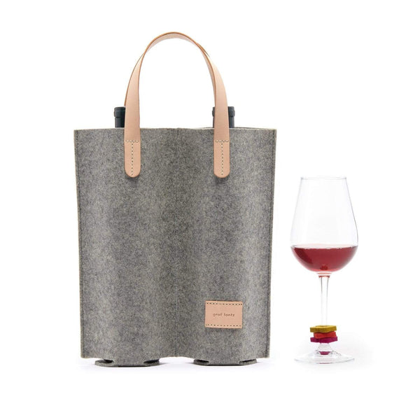 Graf Lantz Wine & Food Carriers Granite Wine Lover's Set Double Carrier