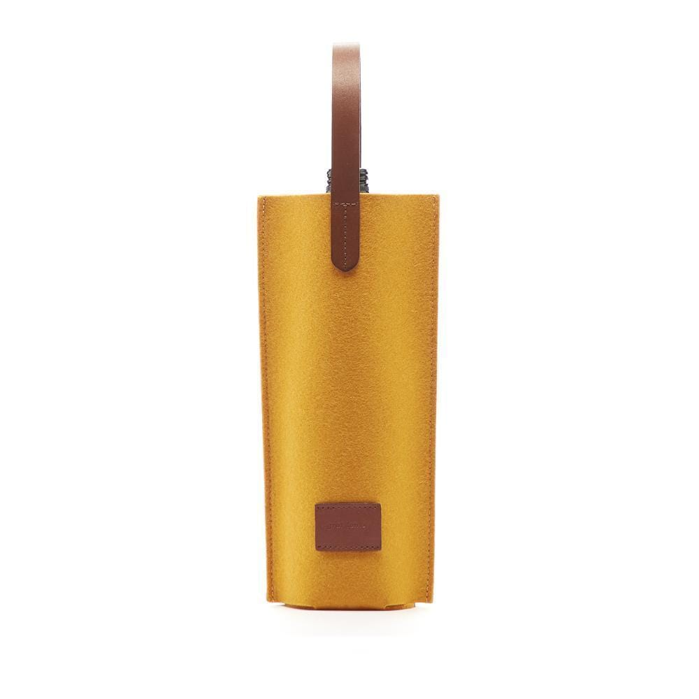 Graf Lantz Wine & Food Carriers Turmeric Cozy Carrier Solo Felt Turmeric