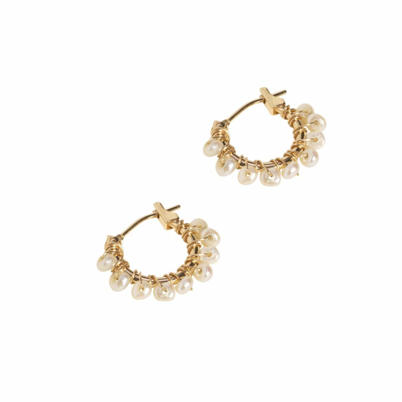 Haati Chai Earrings Kalasi Pearl Hoops