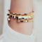 Hissia Bracelets Frida Kahlo Gold Ruffle Bangle Bracelet