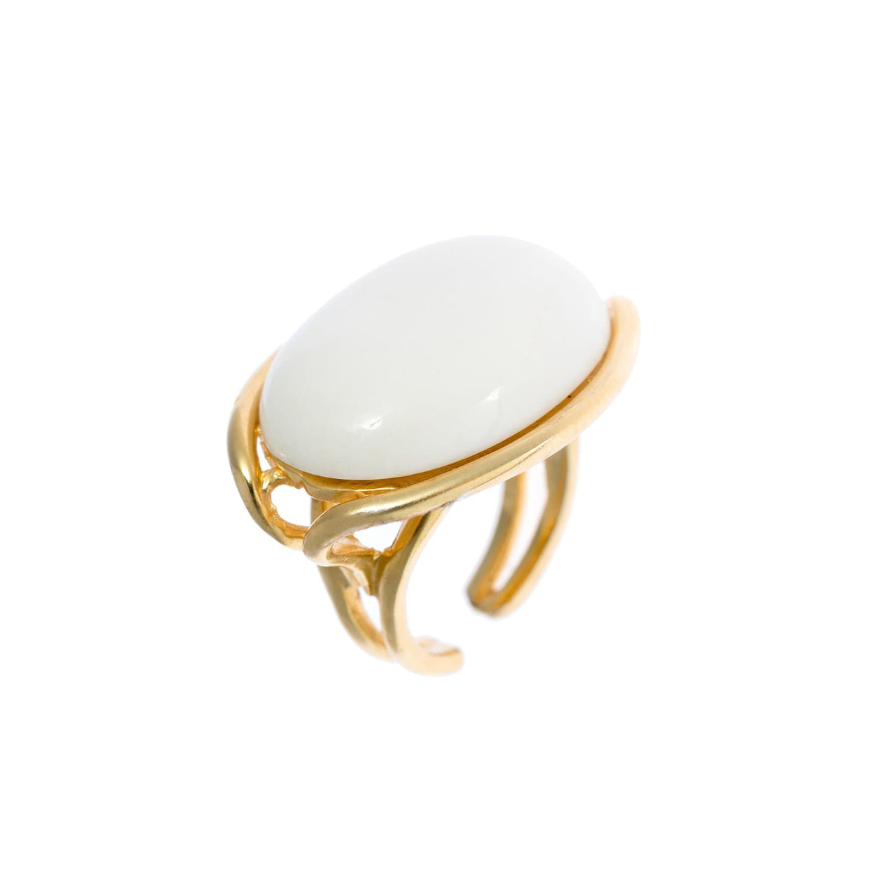 Hissia Rings Bone Cleo Adjustable Ring