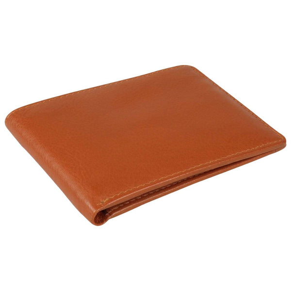 Issara Wallets & Card Holders cognac / Short Slim Bifold Leather Wallet