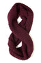 Johanna Howard Home Hats, Gloves & Scarves Aubergine Waffle Knit Infinity Scarf