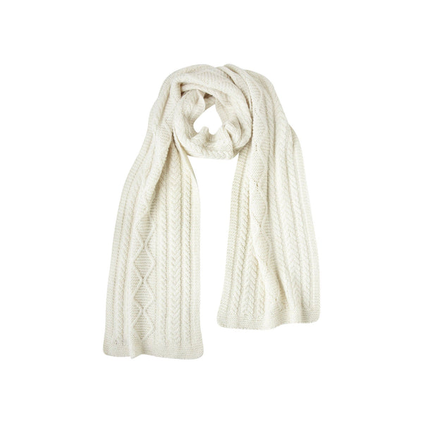 Johanna Howard Home Hats, Gloves & Scarves Natural Howard Cable Scarf