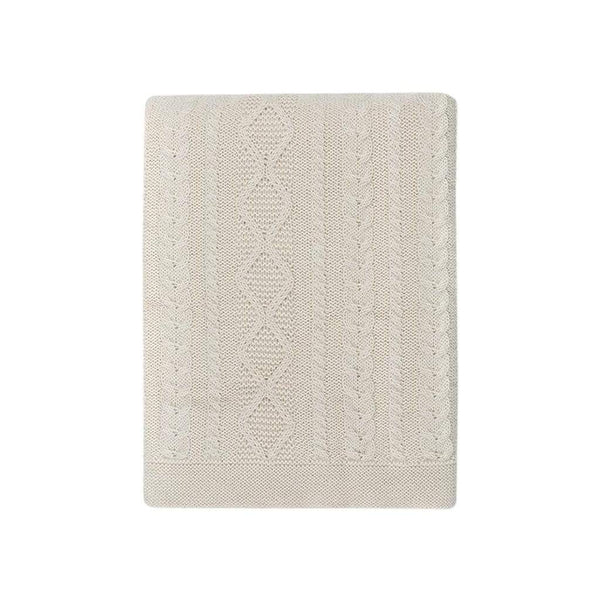 Johanna Howard Home Home Decor Natural Howard Cable Throw