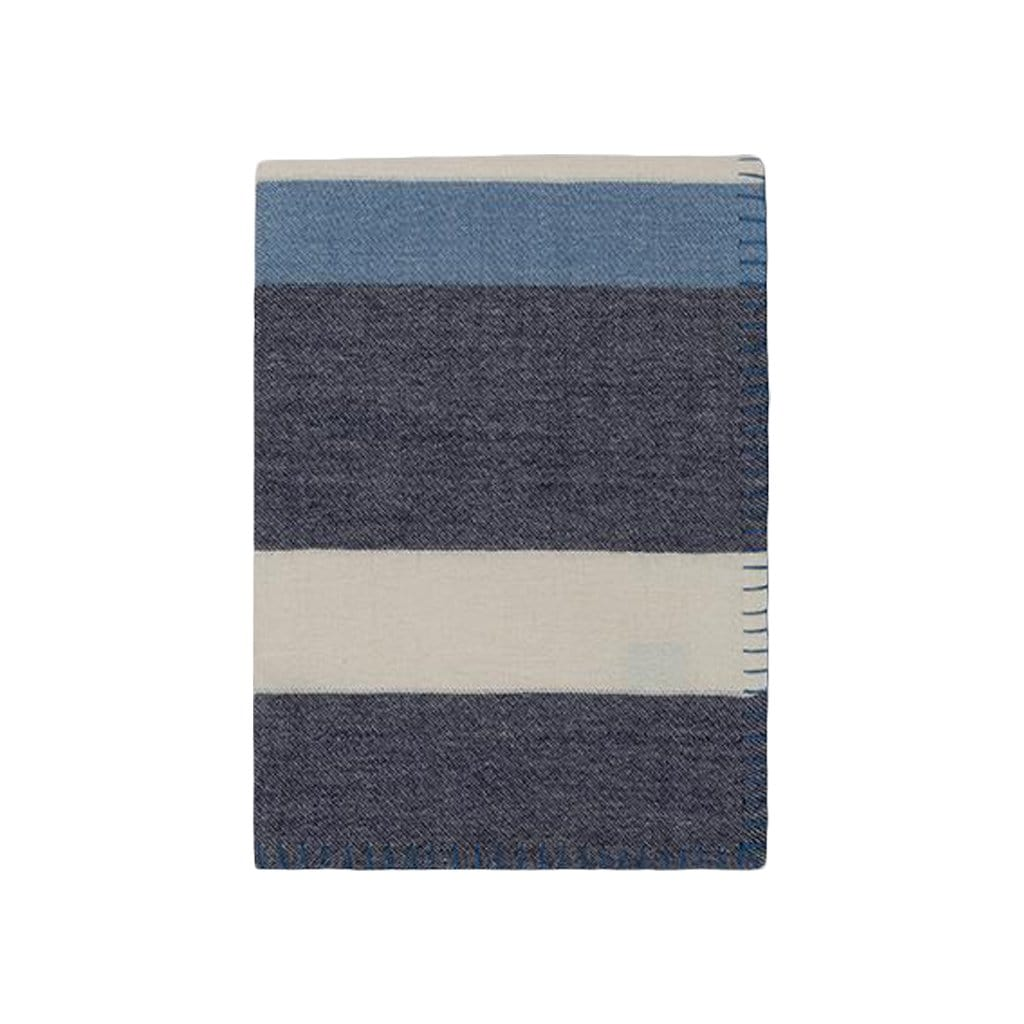 Johanna Howard Home Home Decor Navy/Periwinkle Block Stripe Throw