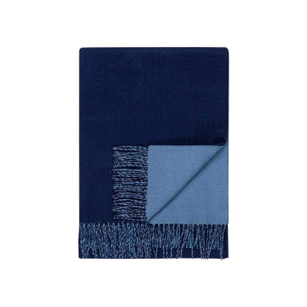 Johanna Howard Home Home Decor Navy/Periwinkle Reversible Throw