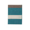 Johanna Howard Home Home Decor Peacock/Taupe Block Stripe Throw