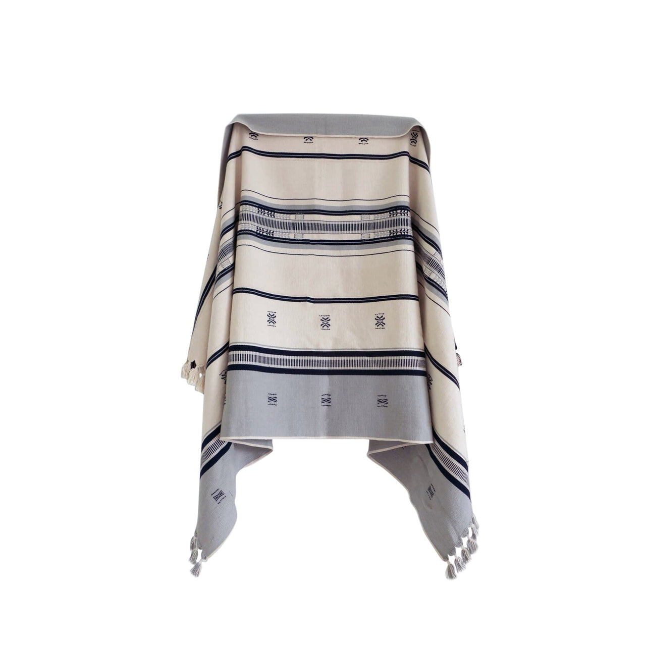 KARU Cushions & Throws Everywhere Throw in Dove and Ivory