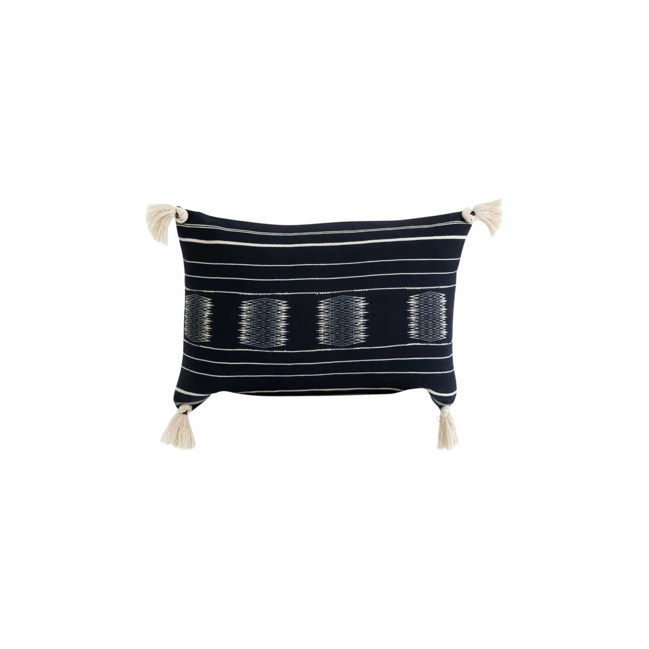 KARU Cushions & Throws Nagaland Bolster Cushion in Navy