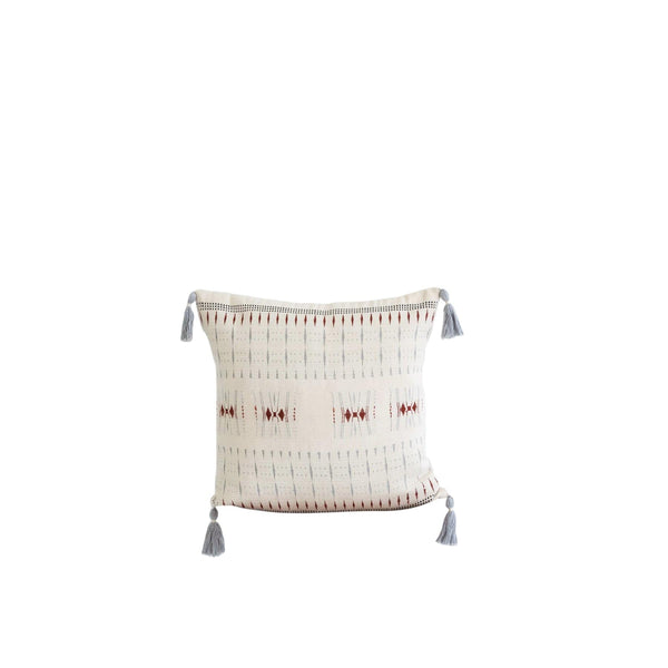 KARU Cushions & Throws Nagaland Cushion in Ivory and Rust