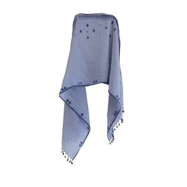 KARU Hats, Gloves & Scarves Jamdani Handloom Cotton Summer Scarf