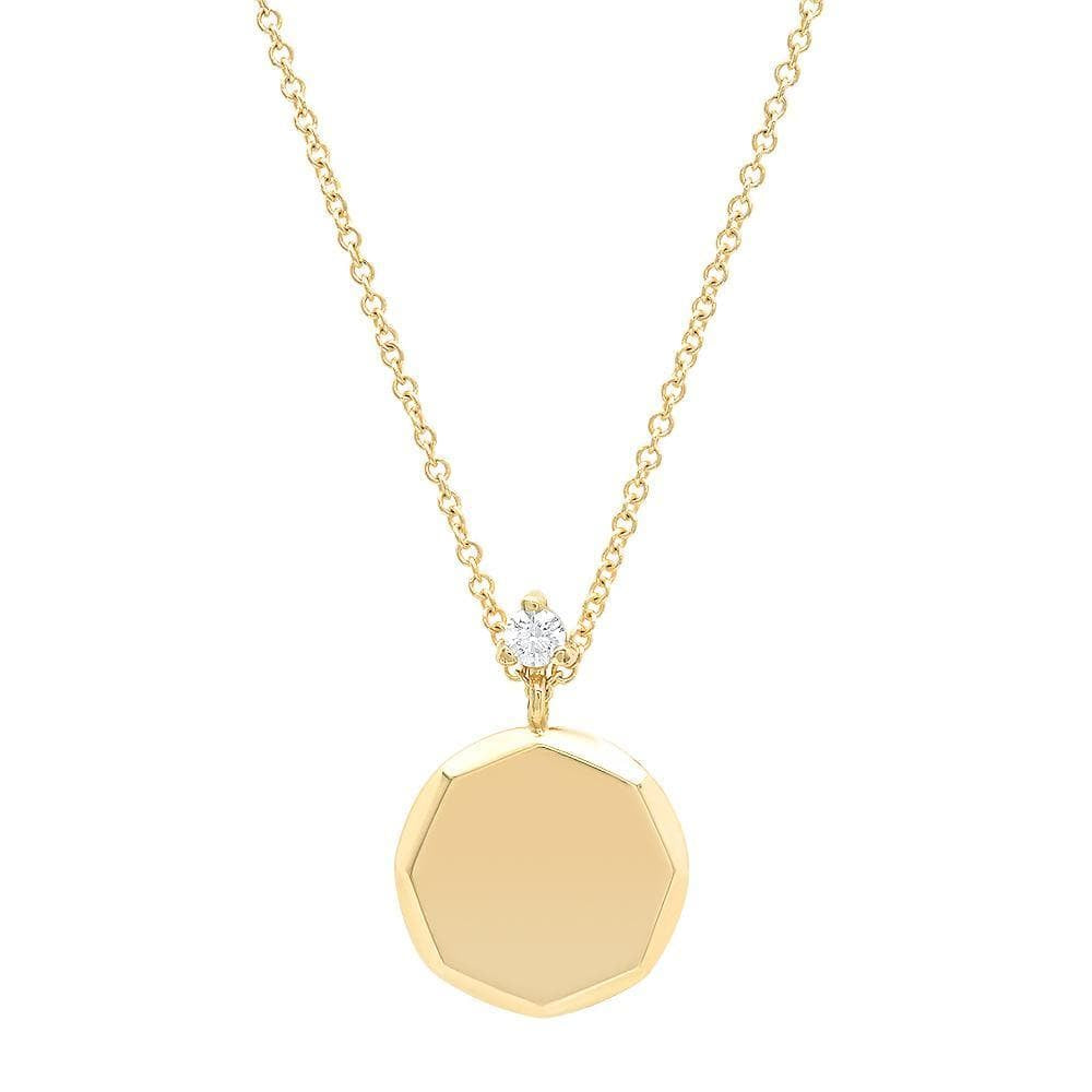 KIMBERLY DOYLE JEWELRY Necklace Faceted Round Medallion Necklace