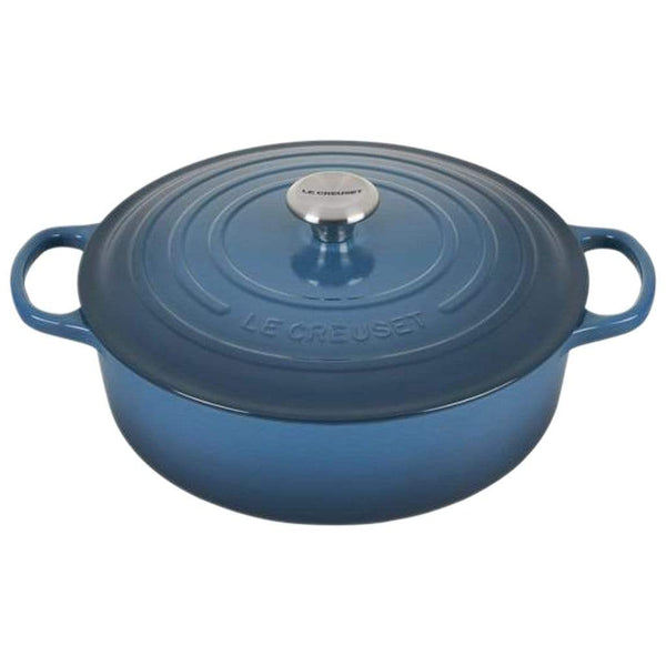 Le Creuset Cookware Deep Teal Signature 6.75-Qt. Round Wide Dutch Oven
