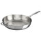 "Le Creuset Cookware Stainless Steel 12.5"" Deep Fry Pan with Helper Handle"