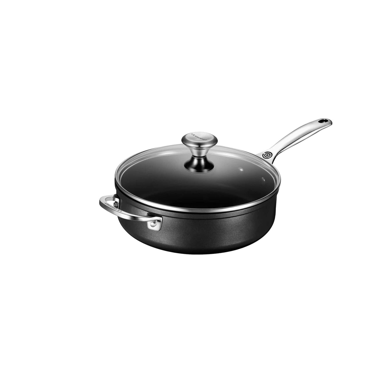 Le Creuset Cookware Toughened Non-Stick PRO 4.25-qt Saute Pan with Helper Handle and Glass Lid