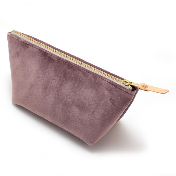 Lilac Velvet Travel Clutch